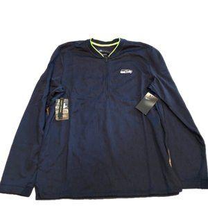NWT Seattle Seahawks Nike Half-Zip Coaches Jacket